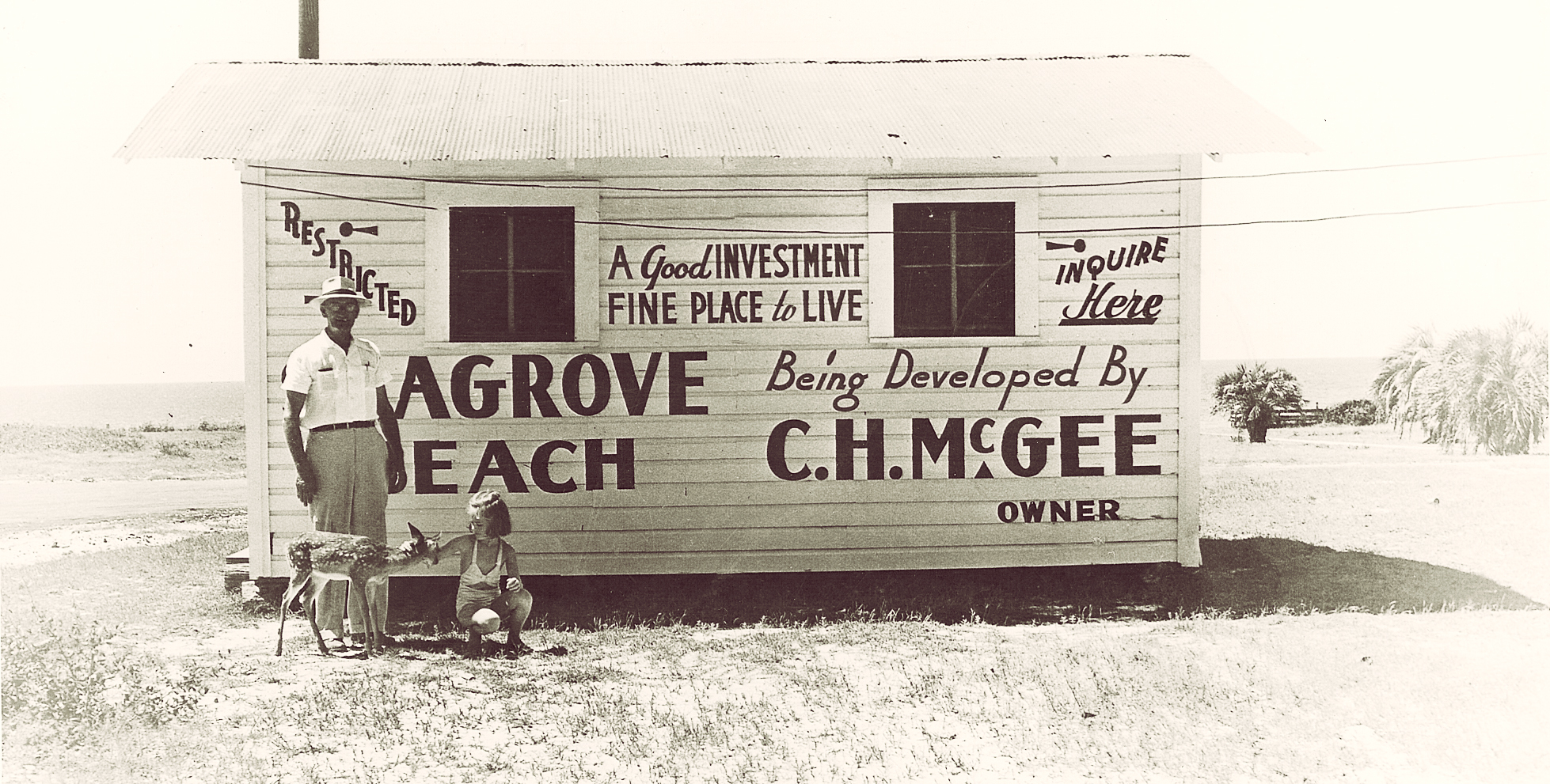Cube McGee shaped Seagrove Beach into the vibrant, soulful place it is today. He was also a local celebrity, with his pet deer named Bambi.