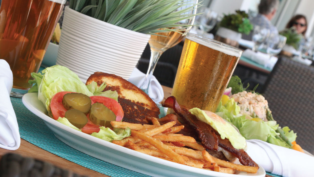 surfing-deer-lunch-patio-burger-fried-egg